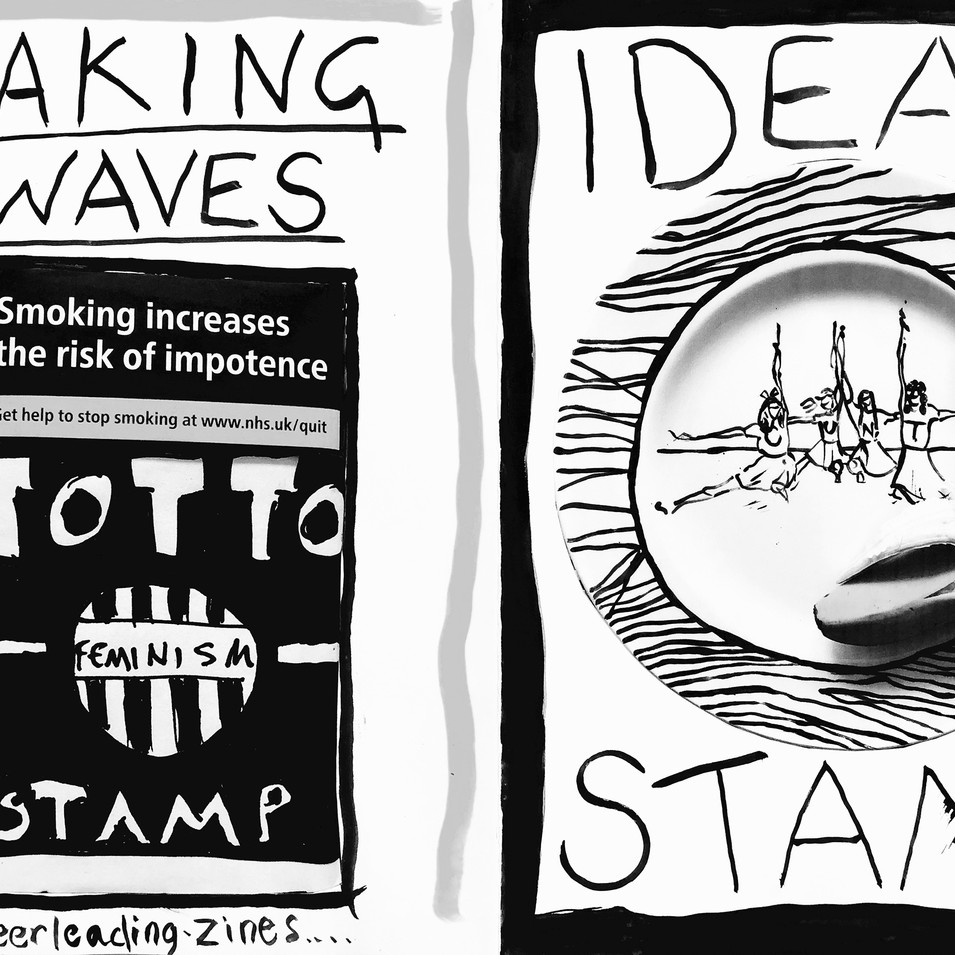 Fanzine (original) Watercolour and photocopy on paper 21x30cm 2018