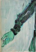 Blue hand, Paris