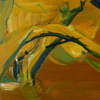 I was just trying to escape, The Mustard Oil on board 21x30cm 2014
