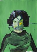 Boooooo portrait in green