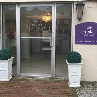 Front Door to Freda's Skin Studio
