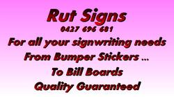 Rut Signs Slide