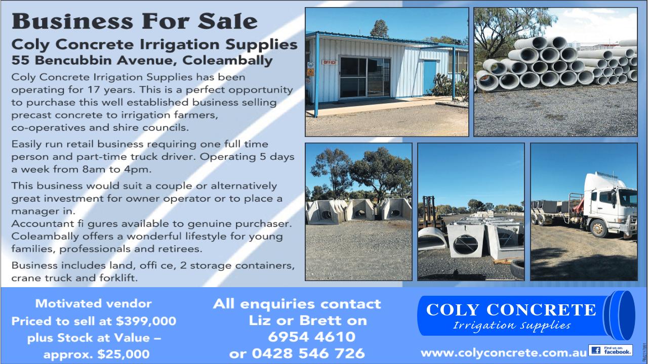 Coly Concrete Ad 1