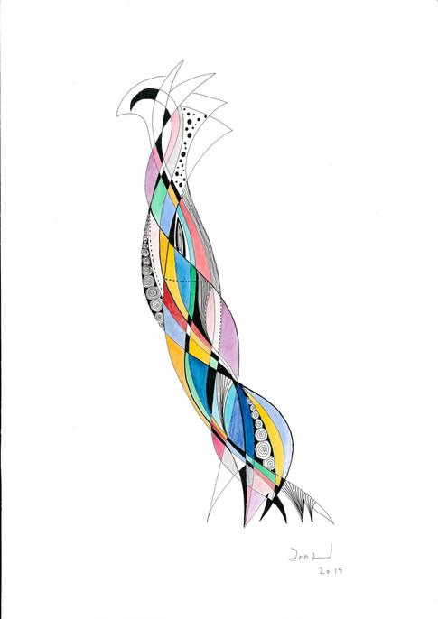 L'oiseau très distingué