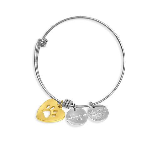 Love is a 4-legged word Heart Bracelet