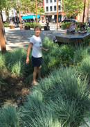 Swale near fountain