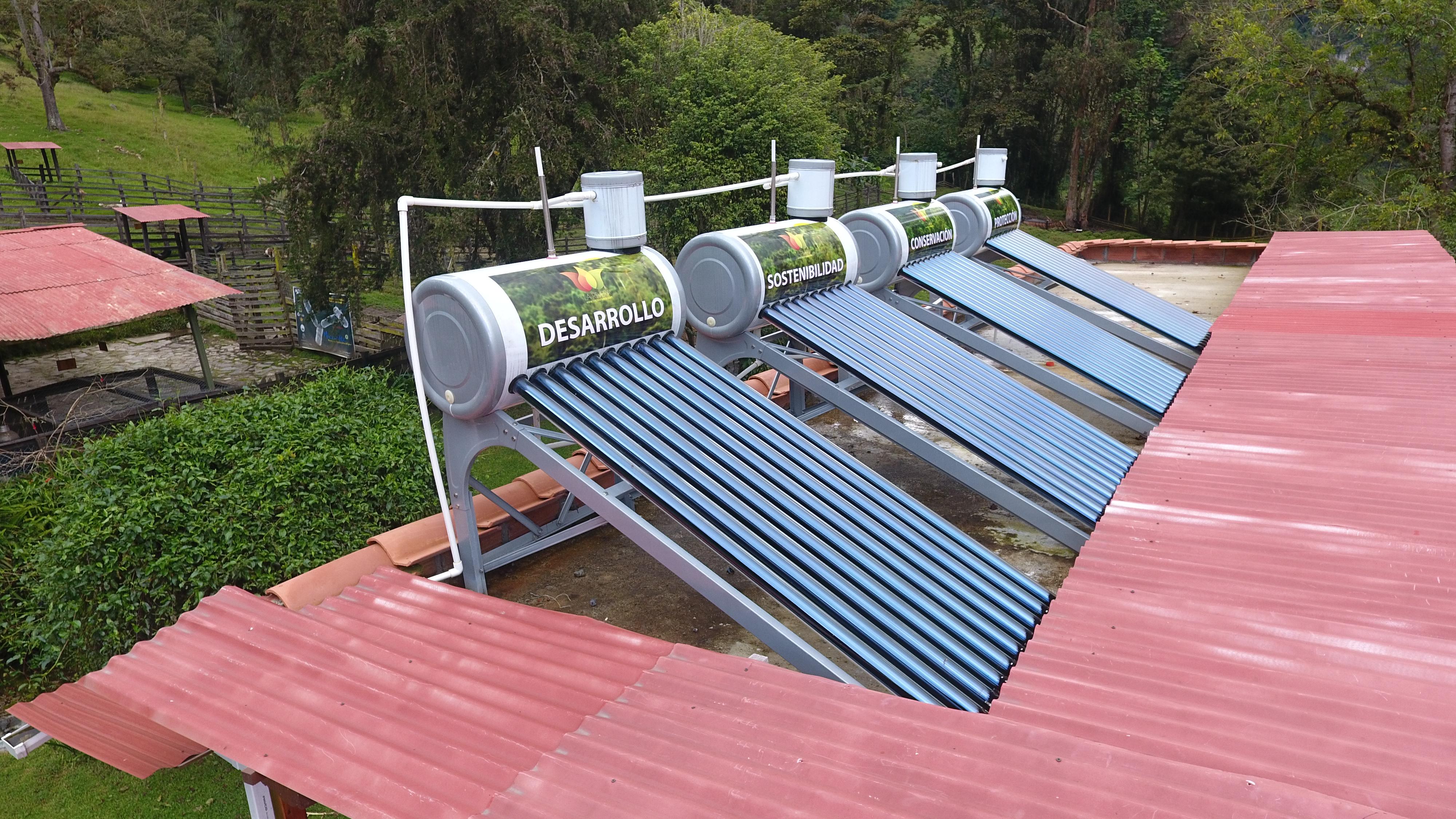 Calentadores de agua solares