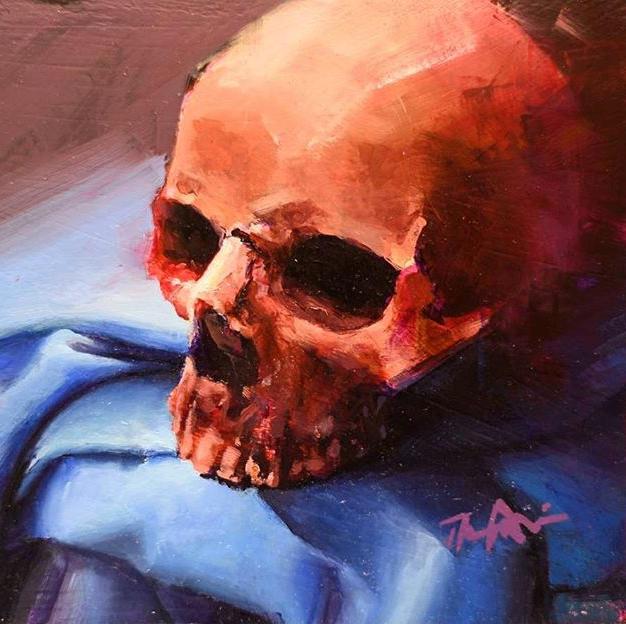 Skull Color Study I