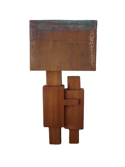 Copper & Mahogany Table Lamp