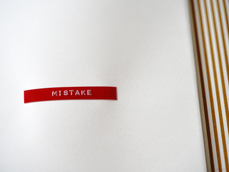 Learn from those mistakes