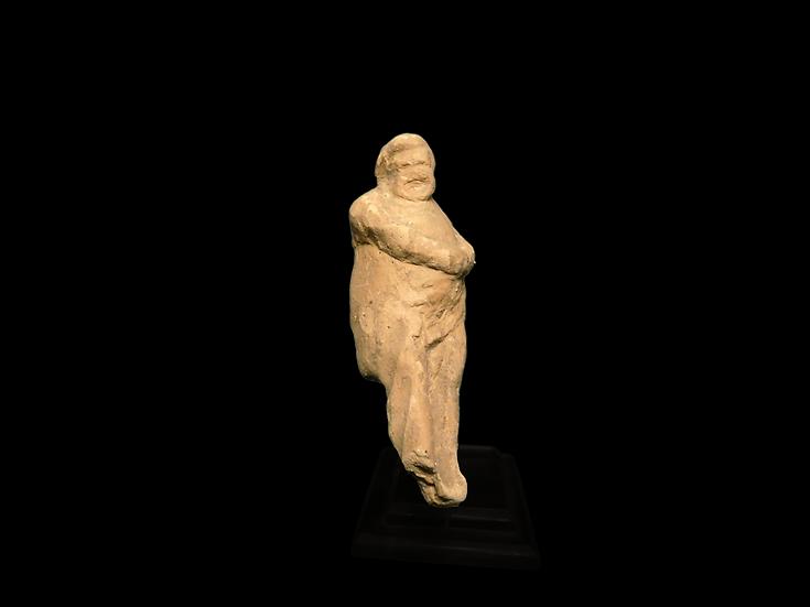 Greek Terracotta Statuette of an Actor