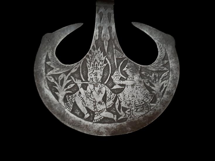 Indo-Persian Ceremonial Battle Axe
