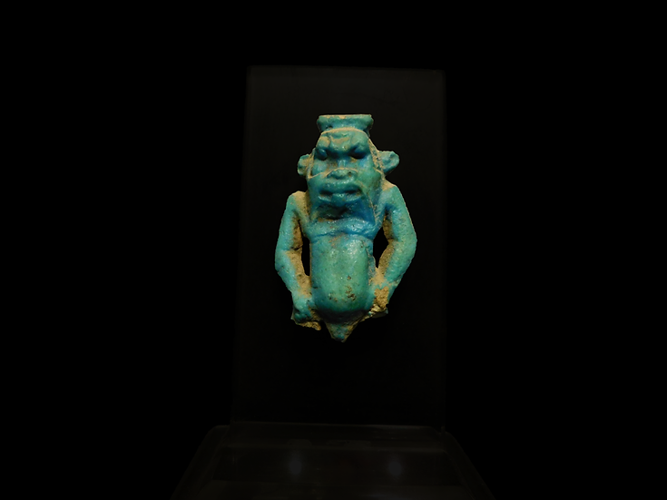 Glazed Faience Amulet of Bes