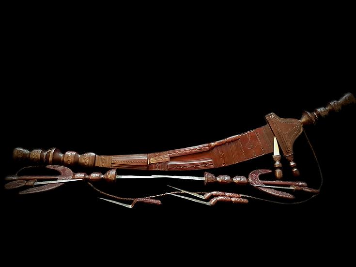 Rare Tuareg Cavalry Saber & Knives Set