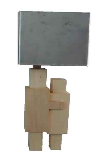 Zinc & Maple Table Lamp