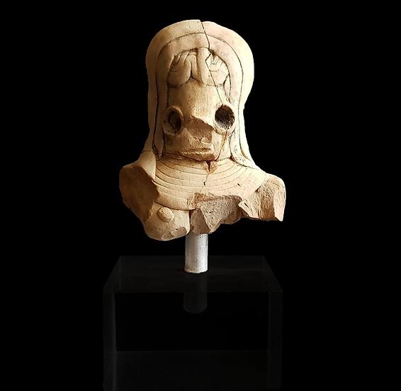 Indus Valley Terracotta Mounted Fertility Idol