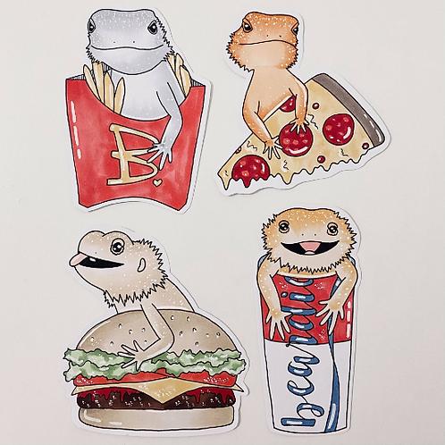 Hand drawn sticker sets