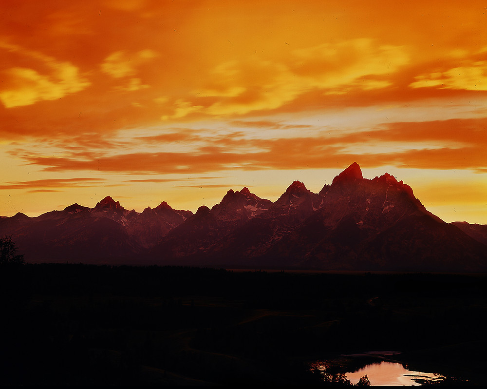 Grand Teton at sunset in Grand Tetons National Park
