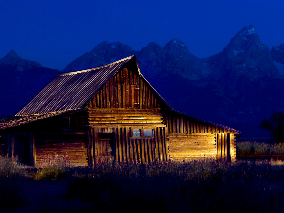 THE T.A. MOULTON BARN LIGHTPAINTED