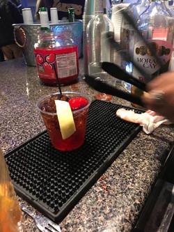 Rum cherry coke