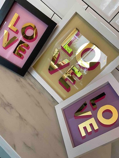 Pink love wall art