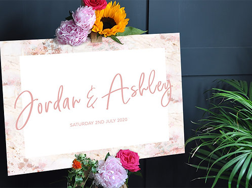 Blush Wedding Welcome Sign