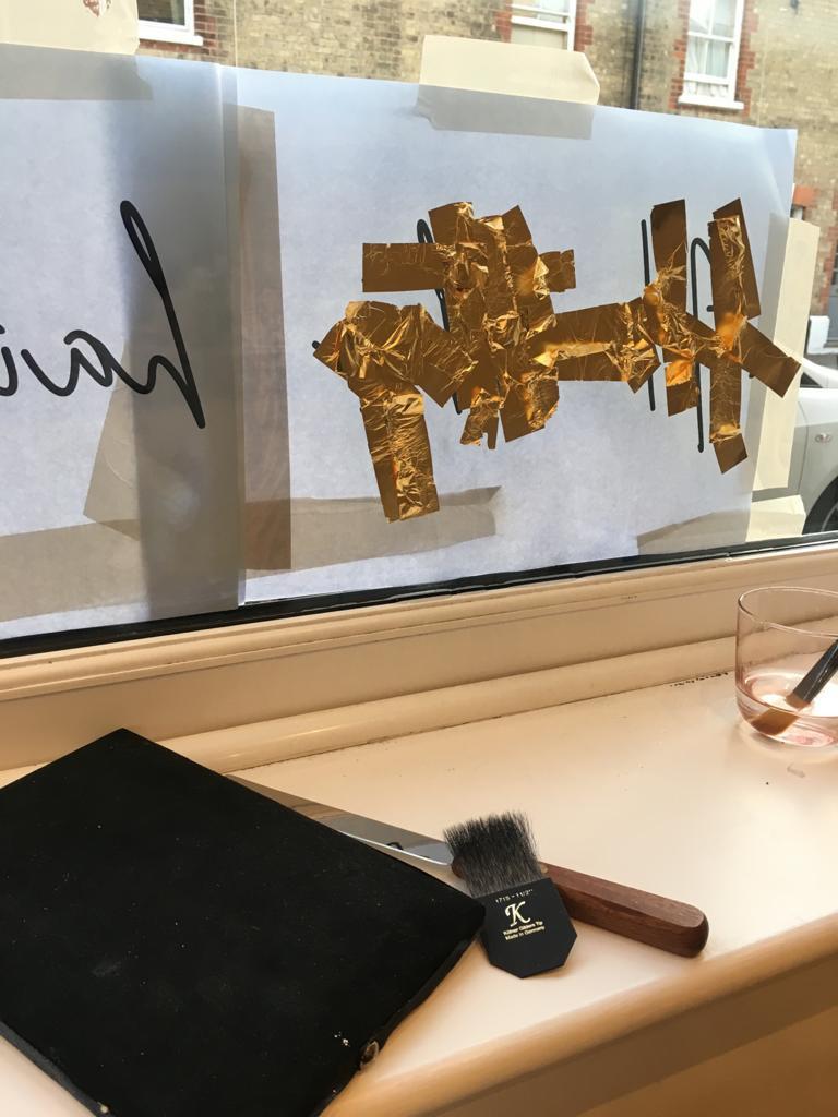 shop front gold