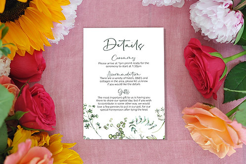 Botanical Details card