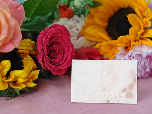 blush pink, marble, marble themed wedding, wedding, place name cards, name cards, place names