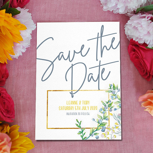 Botanical wedding, save the dates, save the date cards, watercolour