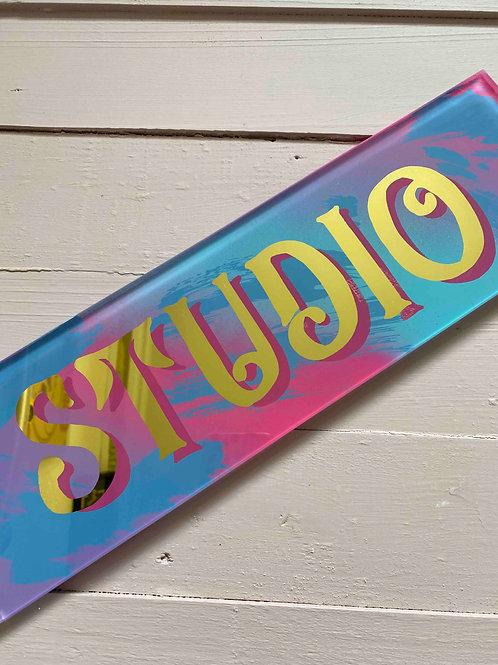 Door name signs, hand painted