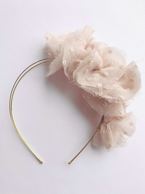 Luxury tufted chiffon hair band for ladies accessories