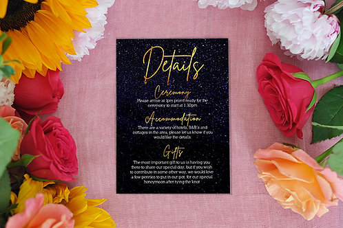 Starry Night Details card