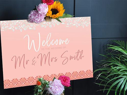 Art Deco Wedding Welcome Sign