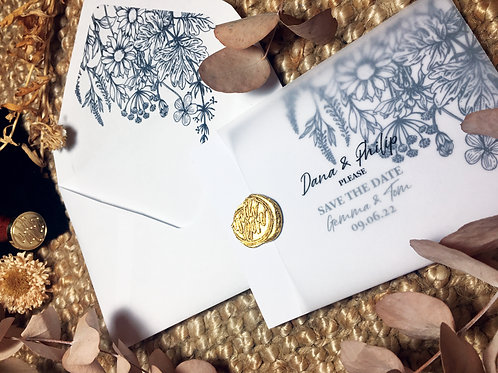 botanical wedding invitation suite uk
