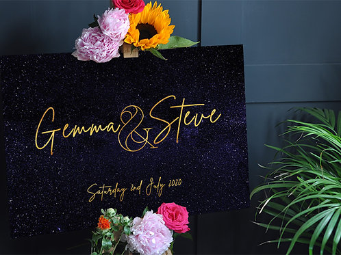 Celestial Wedding Welcome Sign
