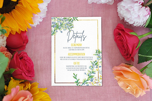 Watercolour Details card