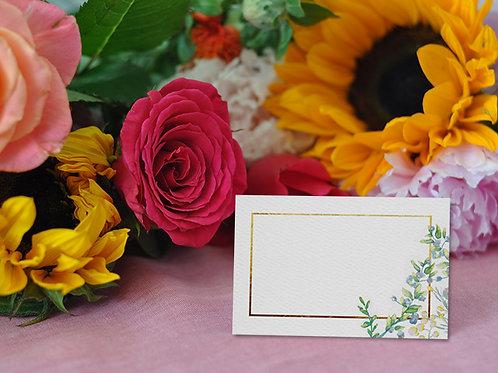 botanical wedding, themed, wedding place name cards