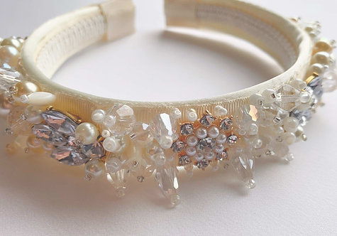 Luxury bridal hair accessories with Swarovski Pearl, crystals, freshwater pearls