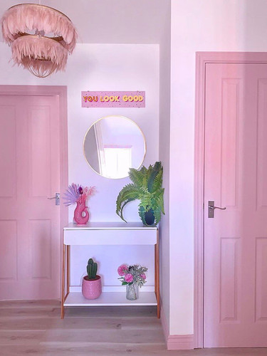 You look good pink wall art