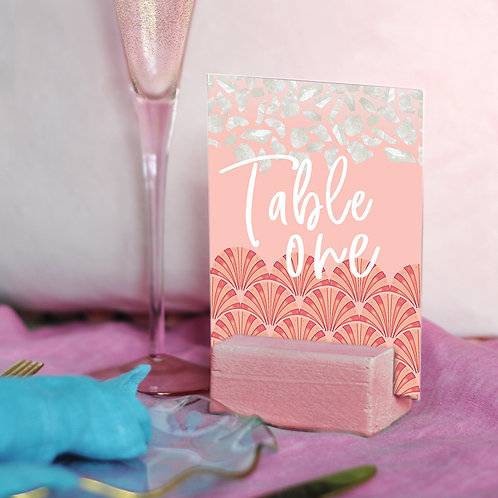 Peach Pearl Table Numbers
