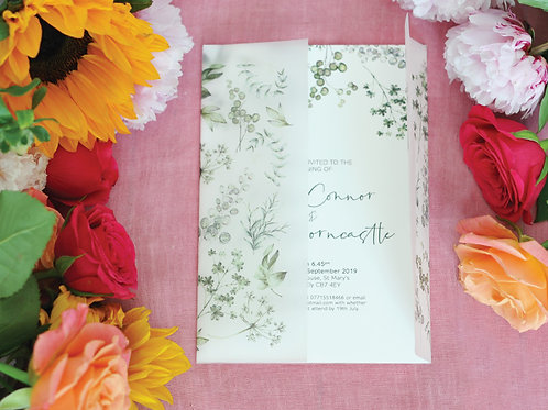 Vellum wrap wedding invitations uk