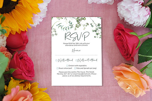 Botanical RSVP card