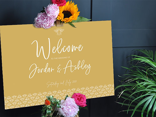 Bee Wedding Welcome sign