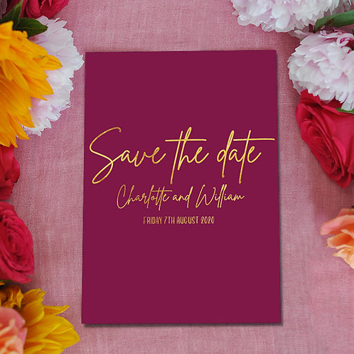 burgundy and gold wedding, save the dates, save the date cards, wedding
