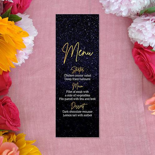 Starry Night Menu Card