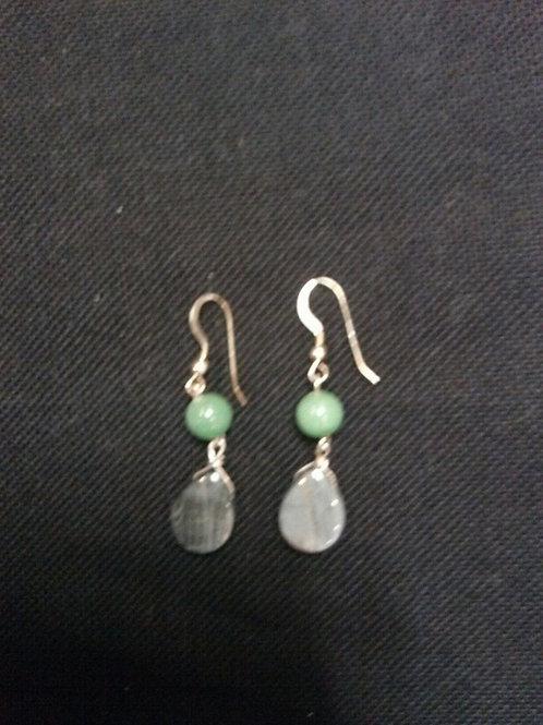 Aventurine & Cats Eye Earrings