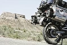 Motorradstiefel von Stylmartin im Abenteuer vor Samarkand