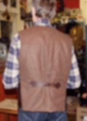 Aero Leather Shackleton Weste Rücken
