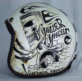 Detailansicht Killer Wheel von Seventies mit aufwendigem Druck.